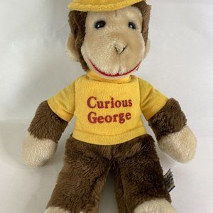 1984 Curious George Yellow Shirt And Hat Plush 12